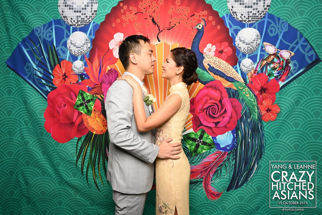 crazy rich asian wedding photobooth singapore